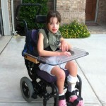 Kaitlyn in her chair
